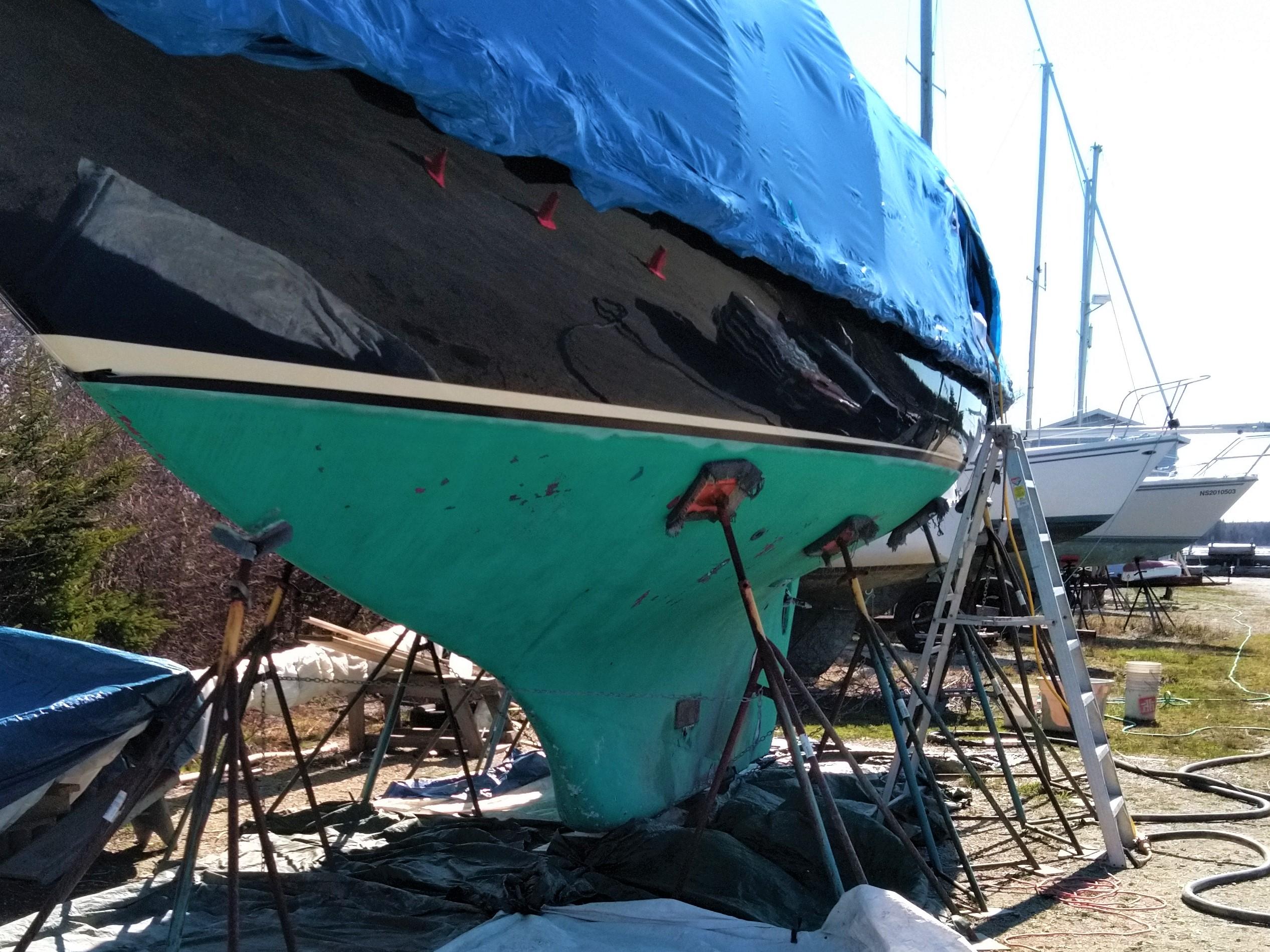 Maritime Blasting Sail boat 1 before