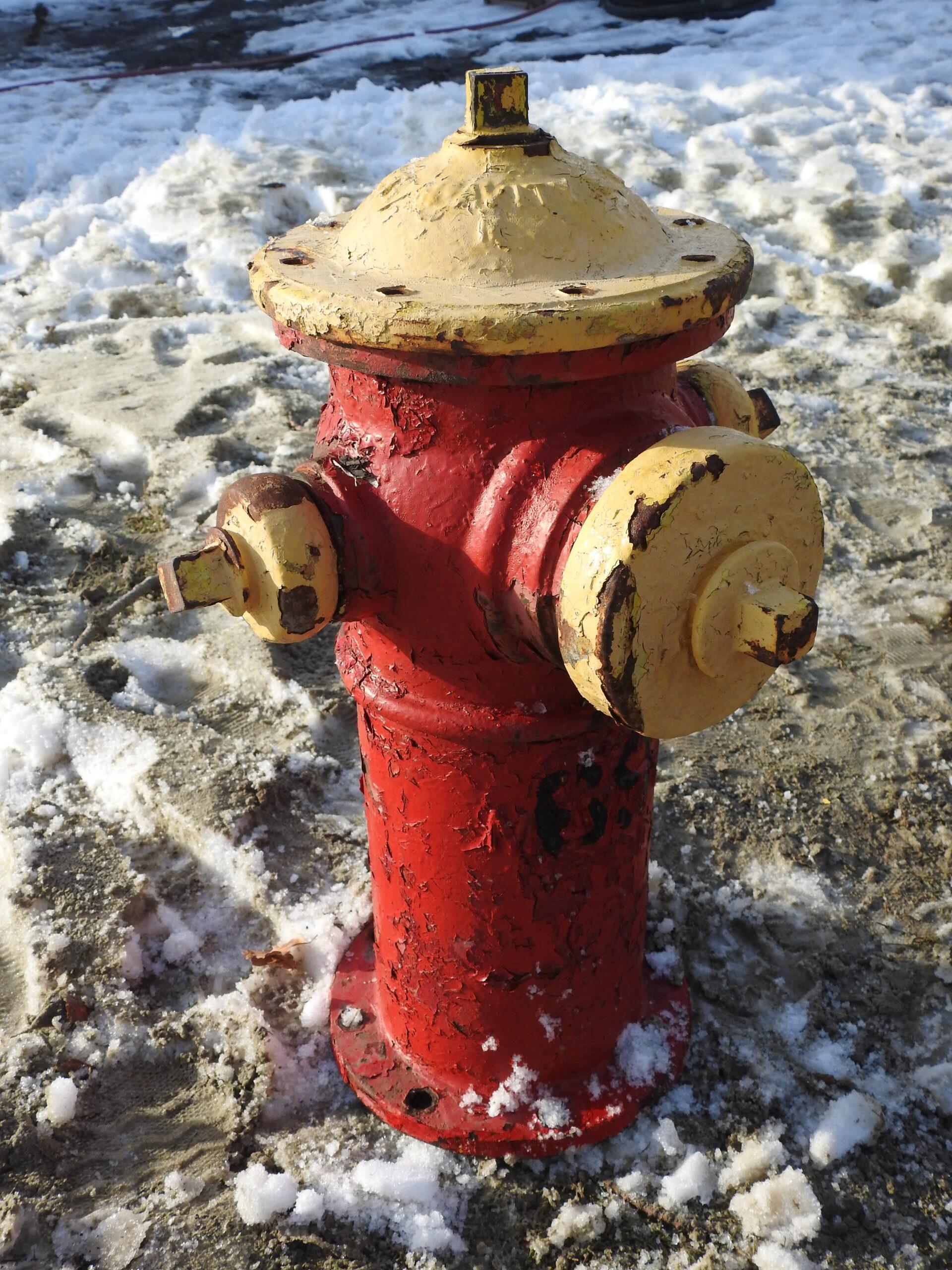 Maritime Blasting fire hydrant before